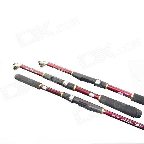 Carbon fishing rod black red free shipping dealextreme for Red fishing rod