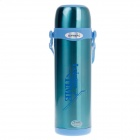 JINFENG NO.801 Stainless Steel Vacuum Wide Mouth Bottle - Blue (1000mL)