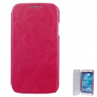 SAYOO 2345 PU Leather Mobile Phone Protective Case for Samsung Galaxy S4 i9500 - Deep Pink