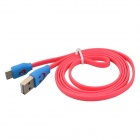 Shiny Smile Face Style Data Sync/Charging Cable for Samsung Galaxy Note 3 N9000 -Deep Pink+blue