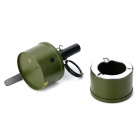 Cylindrical Butane Torch Lighter w/ Ashtray - Army Green