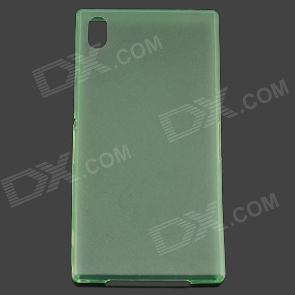 TEMEI Ultrathin Protective TPU Back Case for Sony L39h - Green temei ultrathin protective tpu back case for sony xperia z1 l39h deep pink