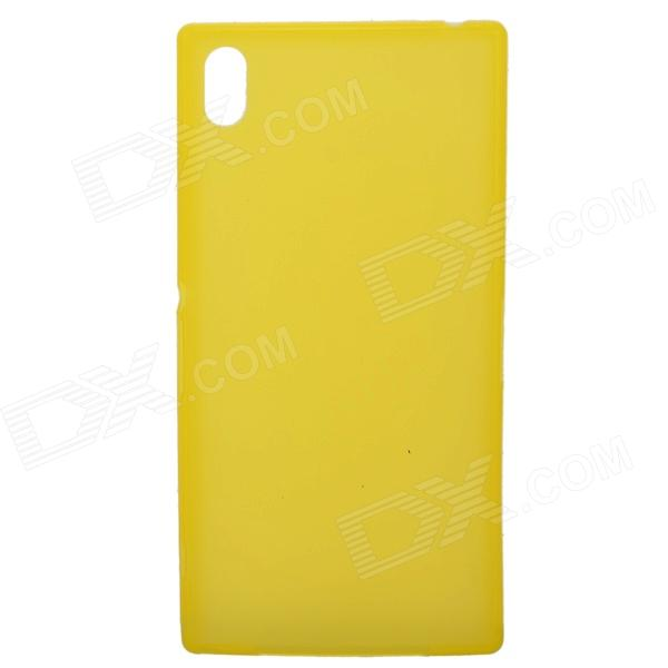 TEMEI Ultrathin Protective TPU Back Case for Sony L39h - Yellow temei ultrathin protective tpu back case for sony xperia z1 l39h deep pink