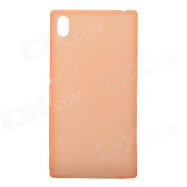 TEMEI Ultrathin Protective TPU Back Case for Sony L39h - Orange temei ultrathin protective tpu back case for sony xperia z1 l39h red