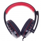 Kinbas VP-X9 Fashionable Gaming Headphones w/ Microphone - Black + Red (210cm)