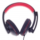 Kinbas GX-K9 Fashionable Gaming Headphones w/ Microphone - Black + Red (210cm)