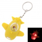 Spacecraft Model LED Keychain - Yellow