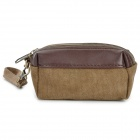MLF 1021 Casual Canvas Zipper Storage Purse - Light Brown