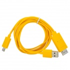 Micro USB to HDMI TV Video Cable w/ USB Power Connector - Yellow