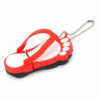 Slippers Style USB 2.0 Flash Drive Disk - Red + White (16GB)