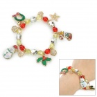 Stylish Snowman / Snowflake / Leave / Star Style Plastic Bracelet for Women - Multicolored