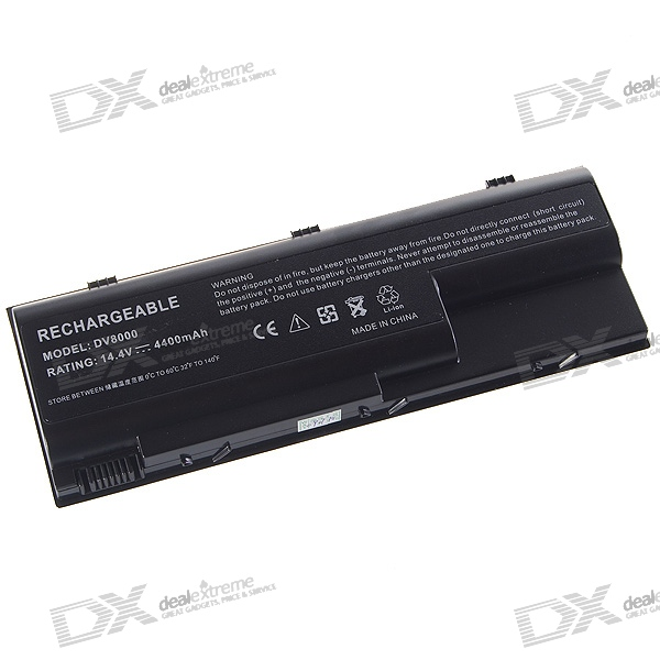 HP DV8000 Compatible 4400mAh Replacement Battery for HP DV8000/DV8100 + More