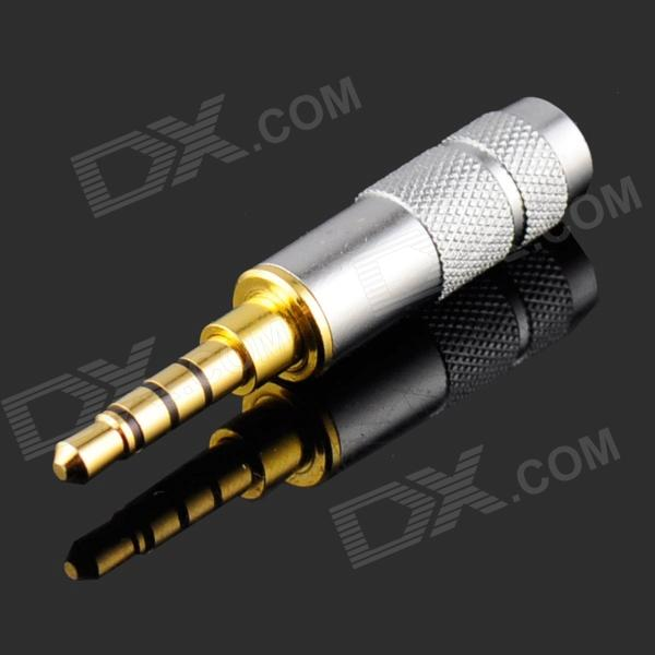 3.5mm Audio Stereo Welding Plug - Silver + Golden