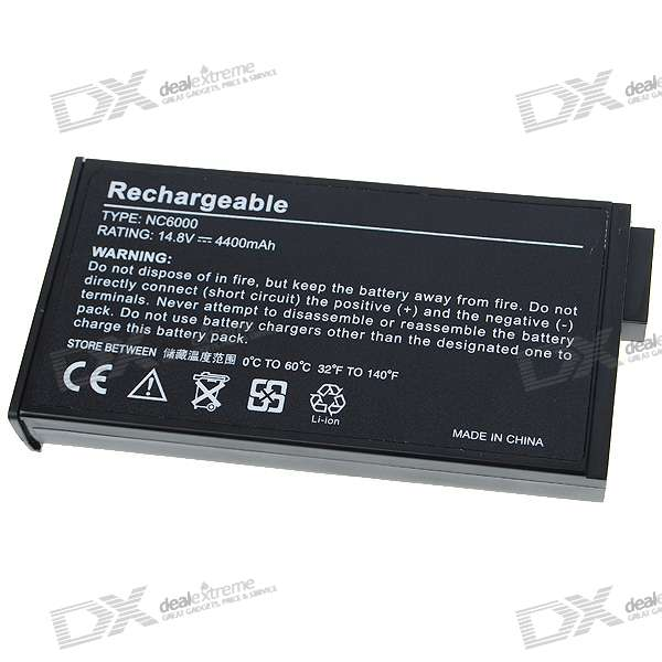 HP NC6000 Compatible 4400mAh Replacement Battery for HP NC6000/V1000 + More