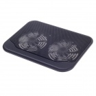 "SHUNZHAN SZ280 USB 2.0 Cooling Pad 2-Fan Cooler for 14"" Notebook / Laptop - Black"