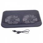 "SHUNZHAN SZ280 USB 2.0 Cooling Pad 2-Fan Cooler for 14"" Notebook / ordinateur portable - noir"