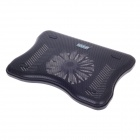 "SHUNZHAN A6 USB 2.0 Cooling Pad Single Fan Cooler for 14"" Notebook / Laptop - Black"