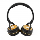 DAZA D900BT Handsfree Stereo Wireless Bluetooth Headphones w/ MP3 /TF / Mic / FM - Black + Yellow