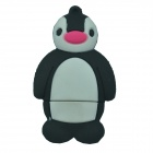 Penguin Style USB 2.0 Flash Drive Disk - Black + White (8GB)