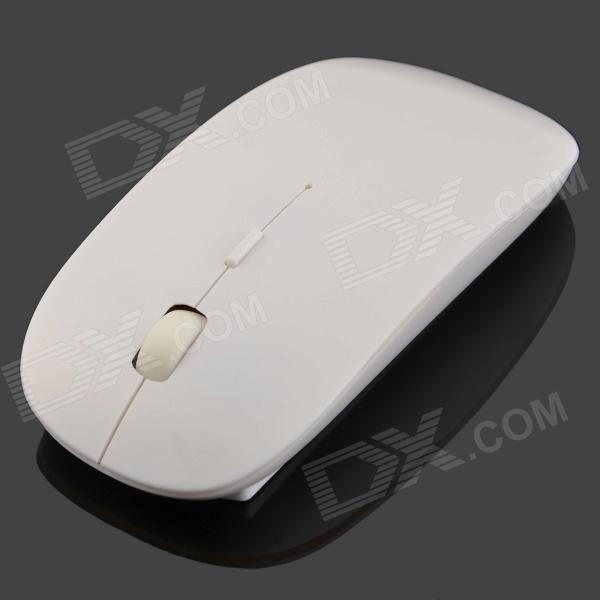 2.4Ghz Wireless 1000dpi Optical Mouse - White (2 x AA) motospeed g310 fashion wireless 1000dpi optical mouse black red 1 x aa