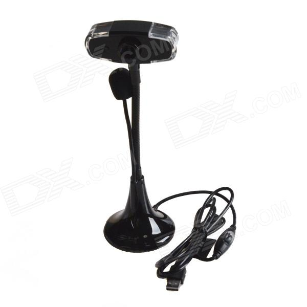 First Sight L8 USB 8.0 MP Camera w/ Microphone for Laptop / Computer - Black (130cm-Cable)