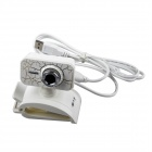 First Sight Z3 USB 2.0 Webcam w/ Dual Mic for Laptop / PC - White