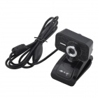 Primeira vista Z3 USB 2.0 webcam w / dual MIC para laptop - preto