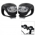 3-Mode 4-LED Antiskid Bicycle Bike Warning Safety Light - Black (2 x CR2032 Battery / 2 PCS)