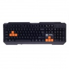KINBAS GX-K98 Professional USB Wired 104-Key Gaming Keyboard - Black (140cm-Cable)