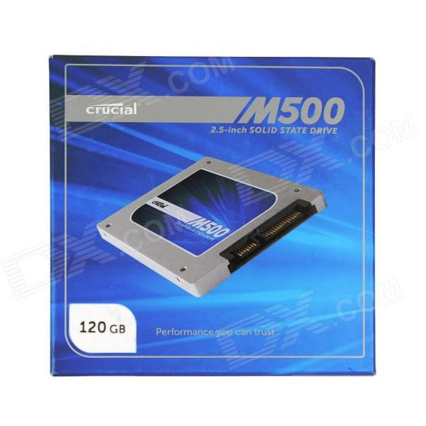 Crucial M500 2.5 Inch 6Gb/s Solid State Drive SATA 3.0 SSD - Sapphire + Silver (120GB / 7mm / 9.5mm) crucial m500 2 5 sata ssd solid state drive 240gb 6gb s 7mm 9 5mm