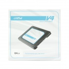 "Crucial 2.5"" Solid State Drive V4 SATA 2.0 3Gb/s SSD - White + Black (64GB)"