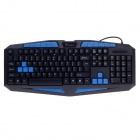 KINBAS VP-X7 Professional USB Wired 116-Key Strong Waterproof Gaming Keyboard - Black (140cm-Cable)