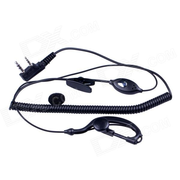 Baiston HSEJ-A 3.5mm + 2.5mm Walkie Talkie Handsfree Earphone w/ Microphone - Black (130cm-Cable)