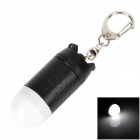 TrustFire L-02Z Missile Head Style LED White Flashlight Keychain - Black + White (1 x CR123A)