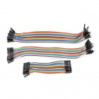 Universal Male to Male / Male to Female / Female to Female Arduino DuPont Cables Set - Multicolored