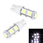 Merdia T10 5W 250lm 9-SMD 5050 LED White Car Interior / Door / Parking Light - (12V / 2 PCS)