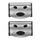 3R-103 Car Seat Belt Buckle - Silver + Black (2 PCS)