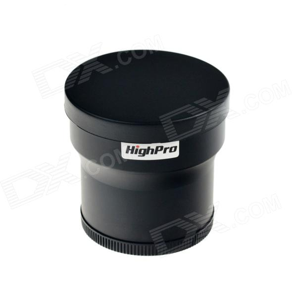 HighPro 58mm 3.0X Digital Optic Super High-Definition Telephoto AF Lens Filter - Black micro camera compact telephoto camera bag black olive