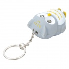 Owl Doll LED Keychain - Grey + White