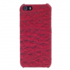 SAYOO 2395 Ostrich Striation Protective PU Leather Back Case for iPhone 5 / 5s - Red