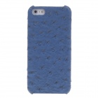 SAYOO 2397 Ostrich Striation Protective PU Leather Back Case for Iphone 5 / 5s - Blue