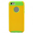 Fashionable Protective PC + TPU Back Case for Iphone 5 / 5s / 5c - Yellow + Green