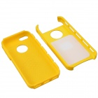 Fashionable Protective PC + TPU Back Case for Iphone 5 / 5s / 5c - Yellow