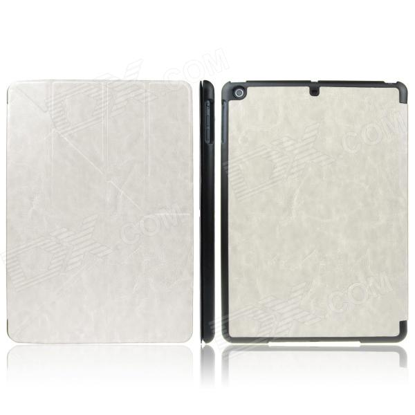 ENKAY ENK-3146 Protective PU Leather Case Cover Stand w/ Auto Sleep for Ipad AIR - White + Black enkay enk 3504 ultra thin protective pu case w 3 fold stand auto sleep for ipad air 2 black