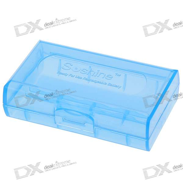 Soshine 2*18650/4*CR123A Battery Protective Case (Cyan)