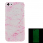 Stylish Glow-in-the-Dark Protective Frosted Plastic Case for Iphone 5C - Transparent + Deep Pink