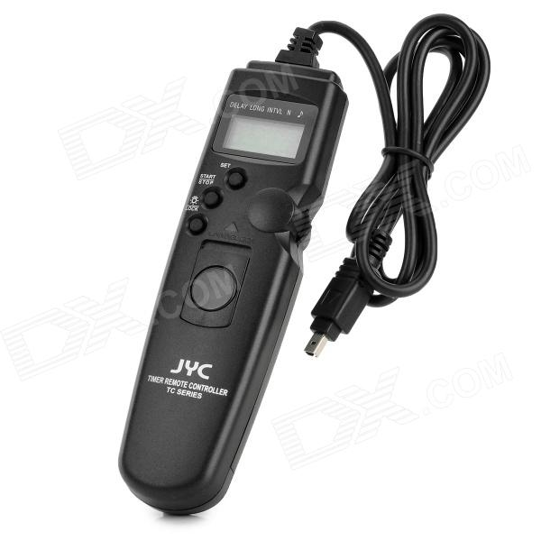 JYC TC-N2 1.0 LCD Camera Timer Remote Controller for Nikon D70 / D80 / D70S - Black (1 x CR2032) until you