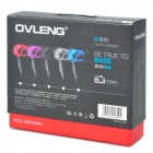OVLENG iP810 3.5mm Super Bass In-ear Earphone w/ Microphone for Iphone / Ipad / Ipod - Deep Pink