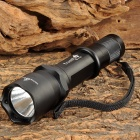 "TrustFire T6-F16 LED ""800lm"" 3-Mode Memory White Flashlight - Black (1 x 18650)"