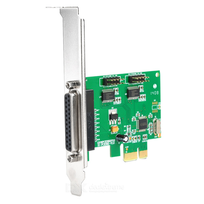 все цены на IOCREST IO-PCE382-2S1P PCI-Express to 2-Port Serial Expansion Card - Green онлайн